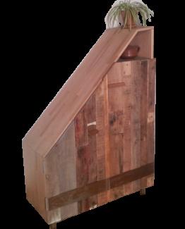 mini placard en bois de palette atelier b mobilier luminaire en mat riaux de r cup ration. Black Bedroom Furniture Sets. Home Design Ideas