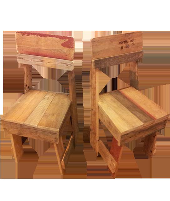 Chaises en bois de palettes recycl es atelier b Chaise en bois de palette
